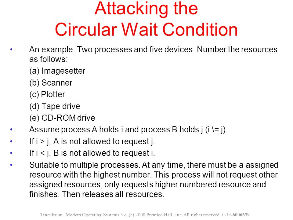Attacking the Circular Wait Condition