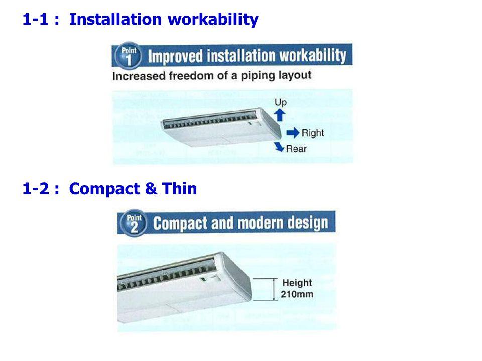 1-1 : Installation workability