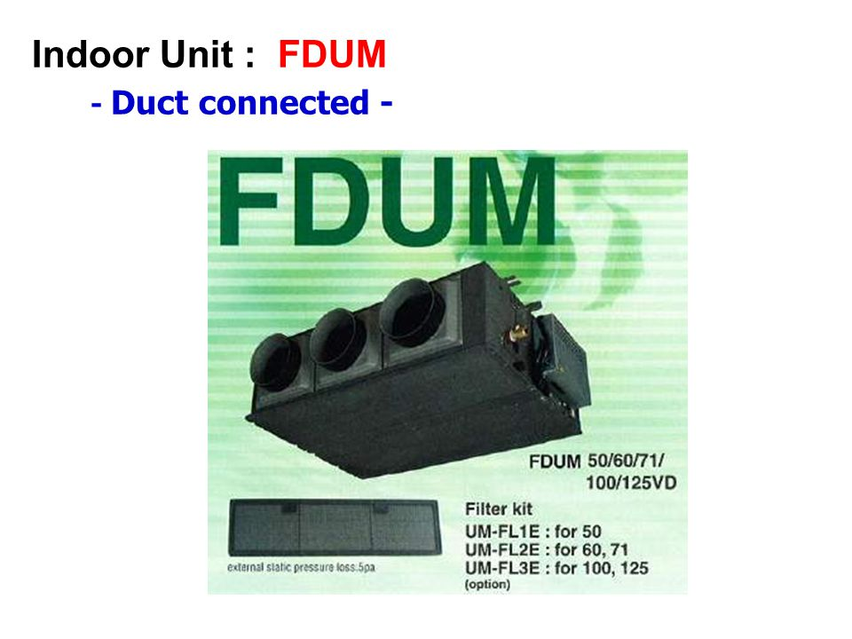 Indoor Unit : FDUM - Duct connected -