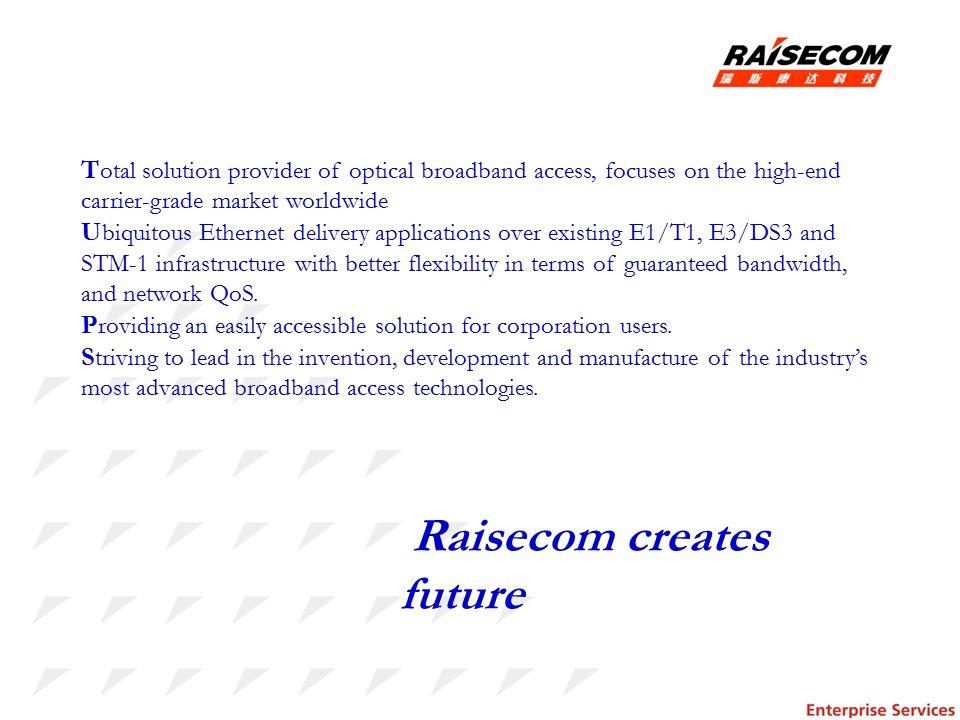 Raisecom creates future