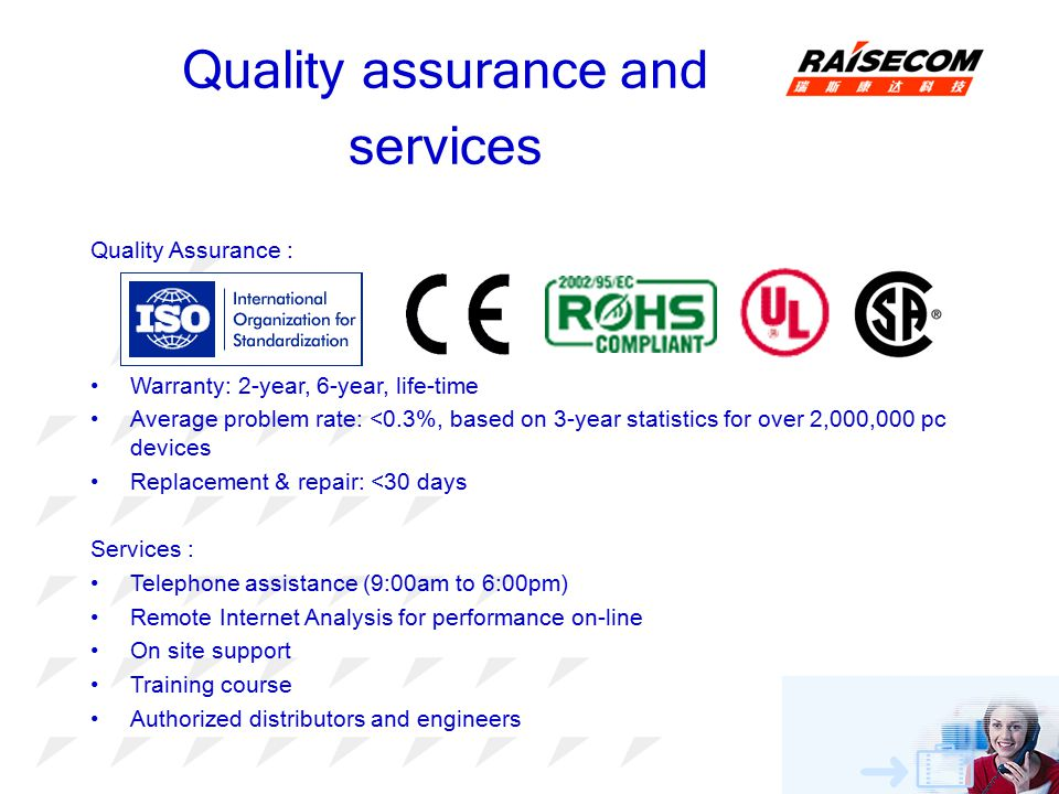 Quality assurance and services
