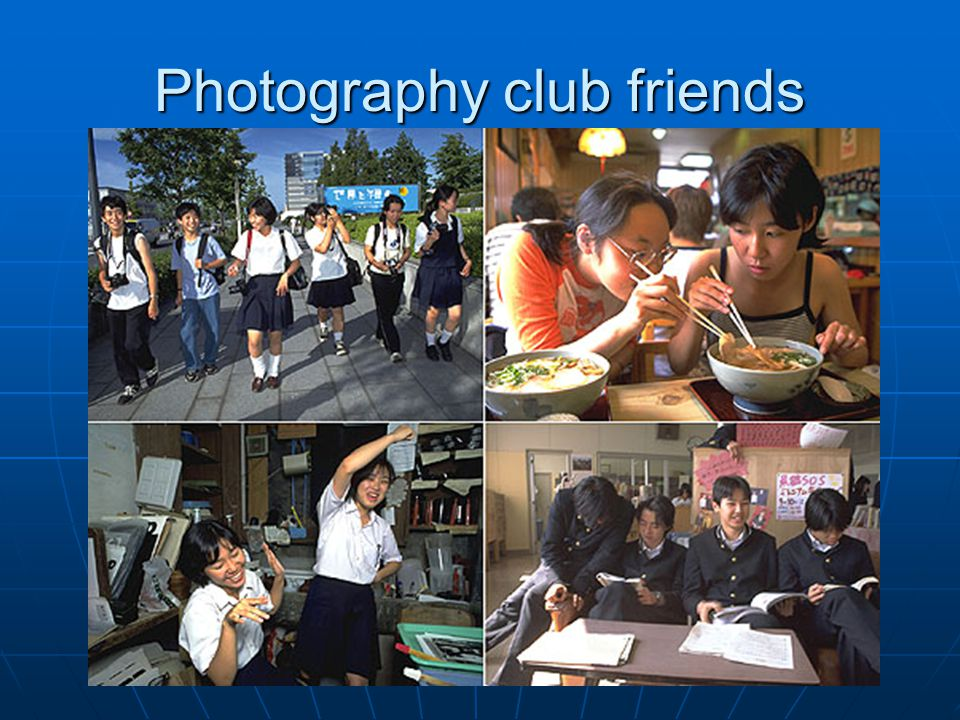 Photography club friends