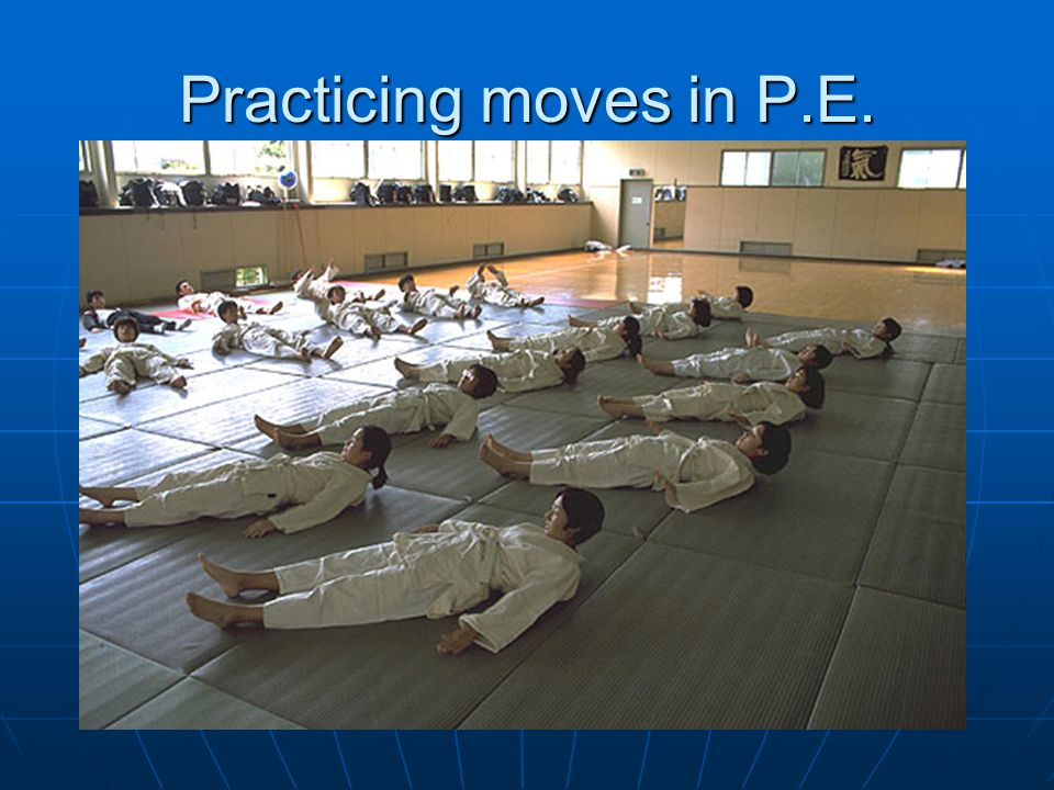 Practicing moves in P.E.