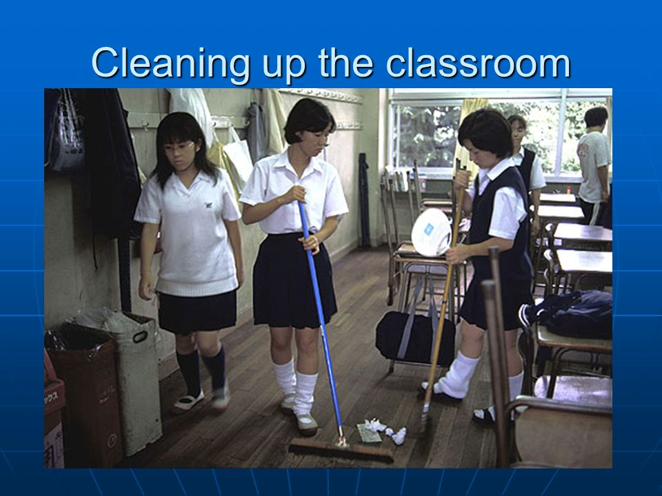 Cleaning up the classroom