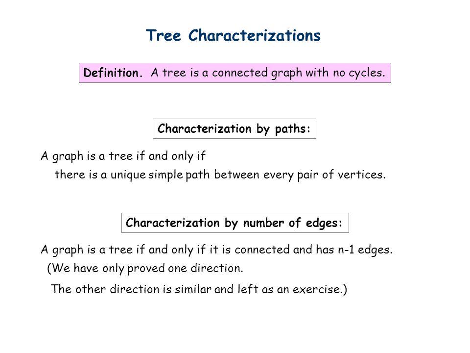 Tree Characterizations
