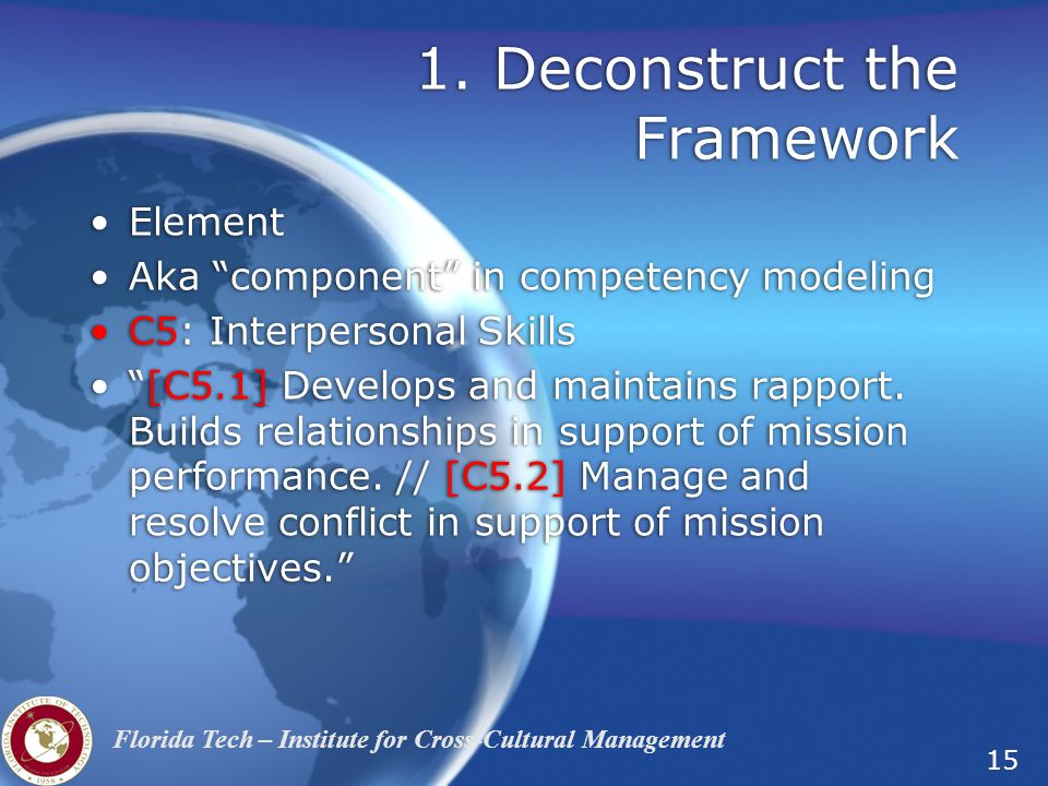 1. Deconstruct the Framework