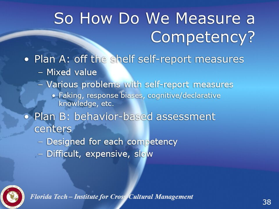 So How Do We Measure a Competency