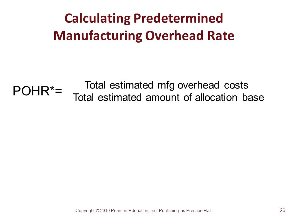 Calculating Predetermined Manufacturing Overhead Rate