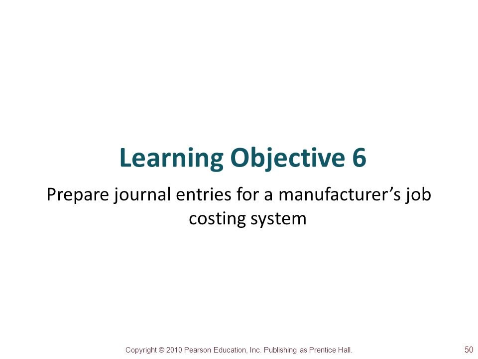 Prepare journal entries for a manufacturer's job costing system