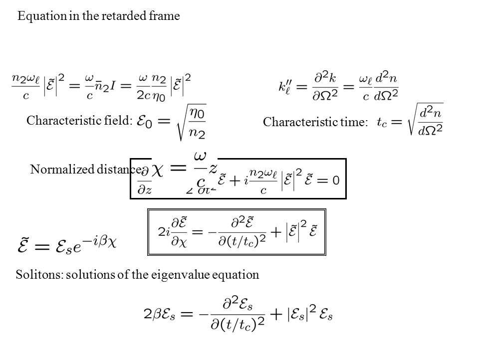 Equation in the retarded frame