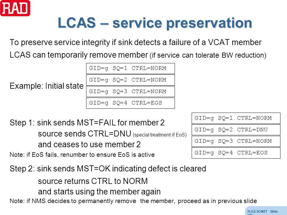 LCAS – service preservation