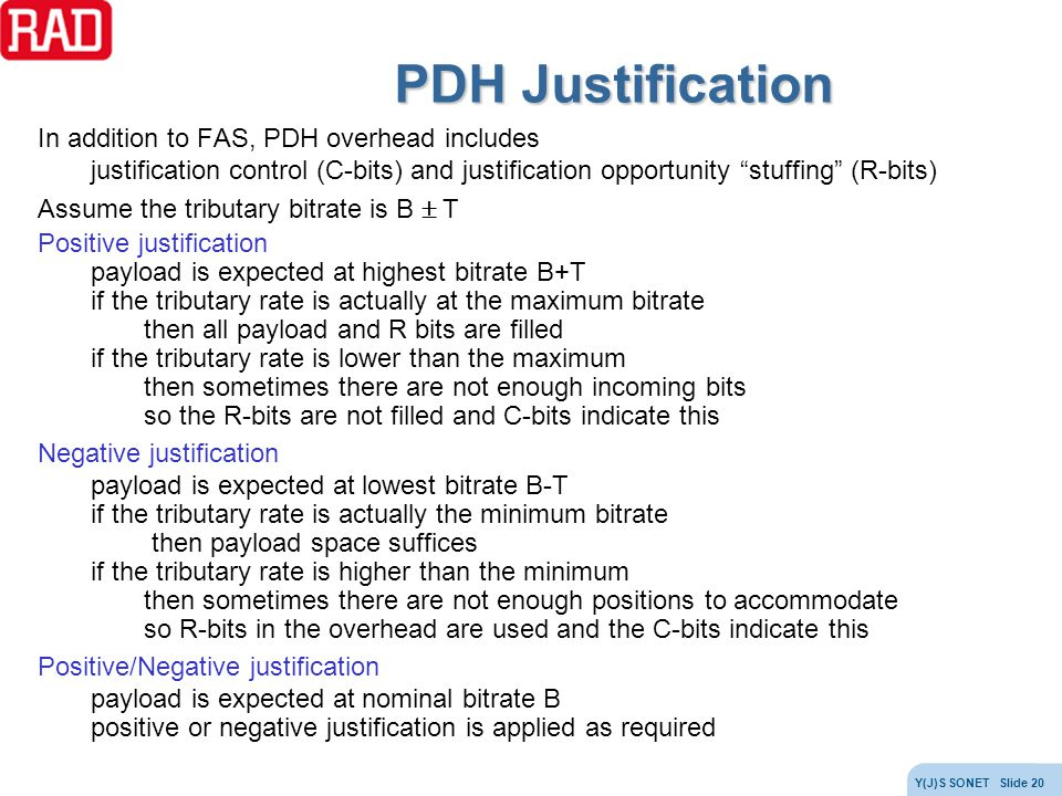 PDH Justification In addition to FAS, PDH overhead includes