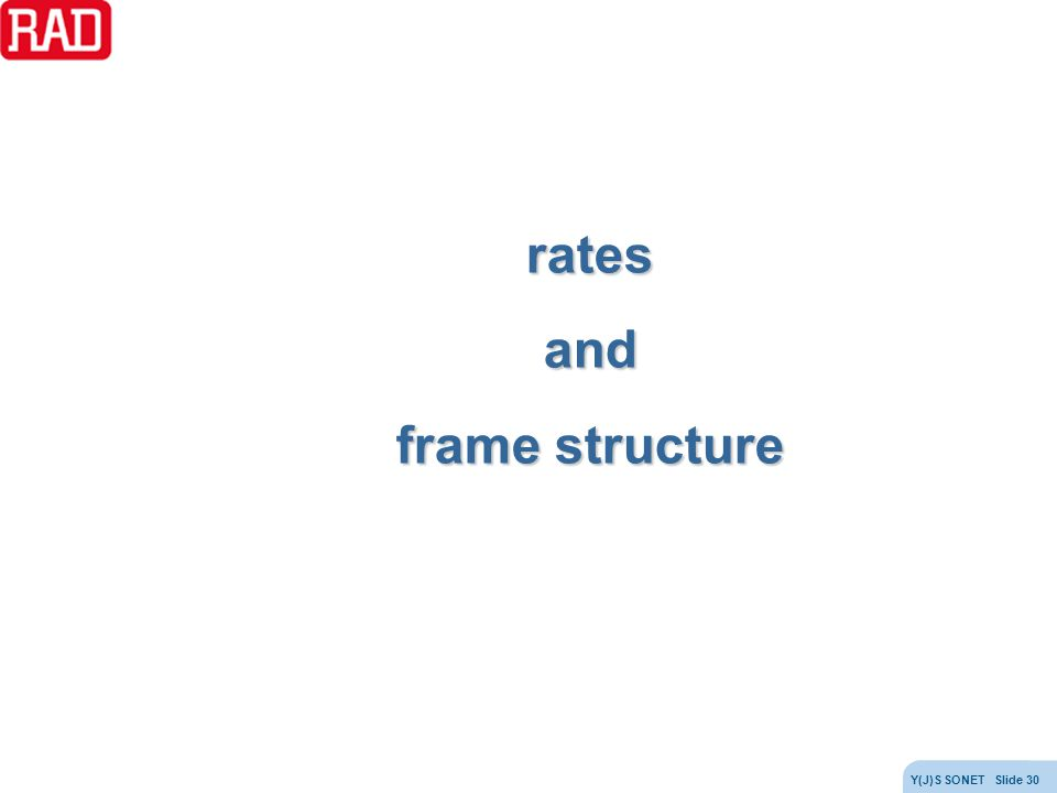 rates and frame structure