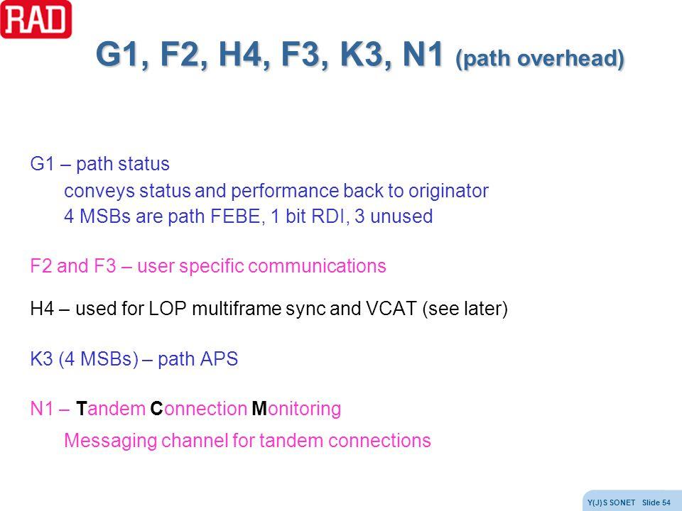 G1, F2, H4, F3, K3, N1 (path overhead)