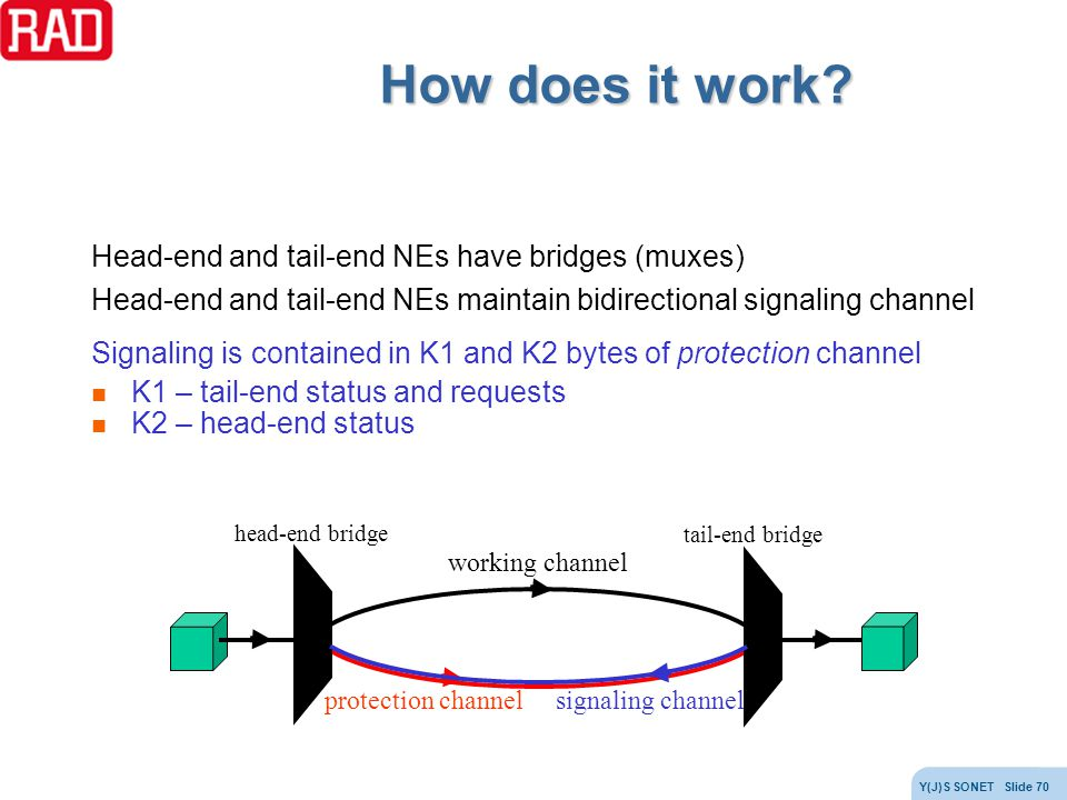 How does it work Head-end and tail-end NEs have bridges (muxes)
