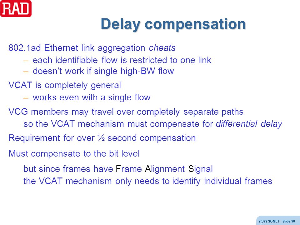 Delay compensation 802.1ad Ethernet link aggregation cheats