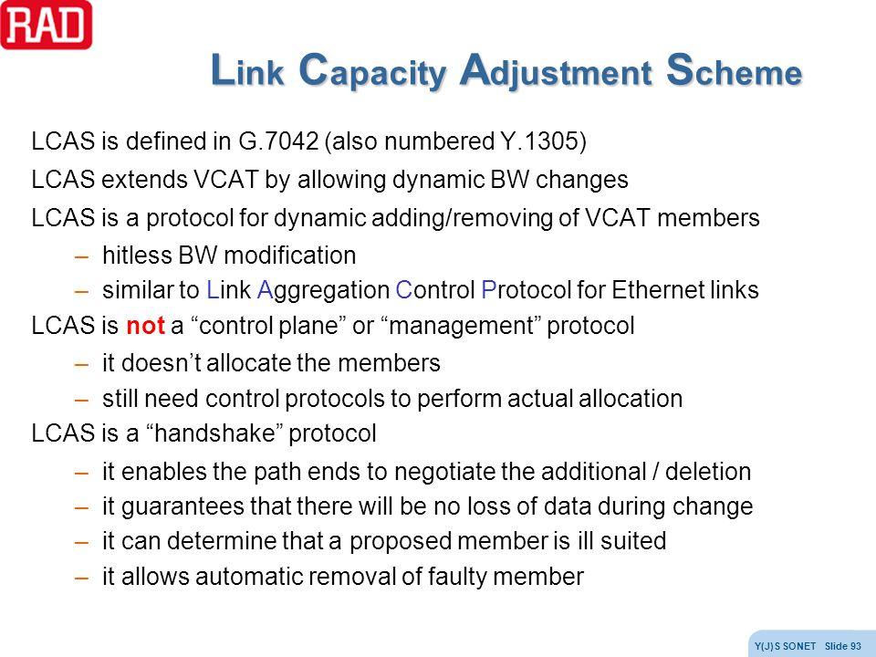 Link Capacity Adjustment Scheme