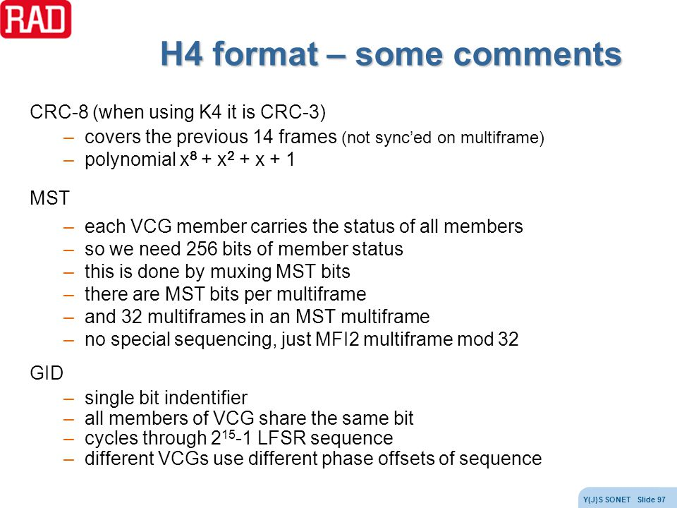 H4 format – some comments