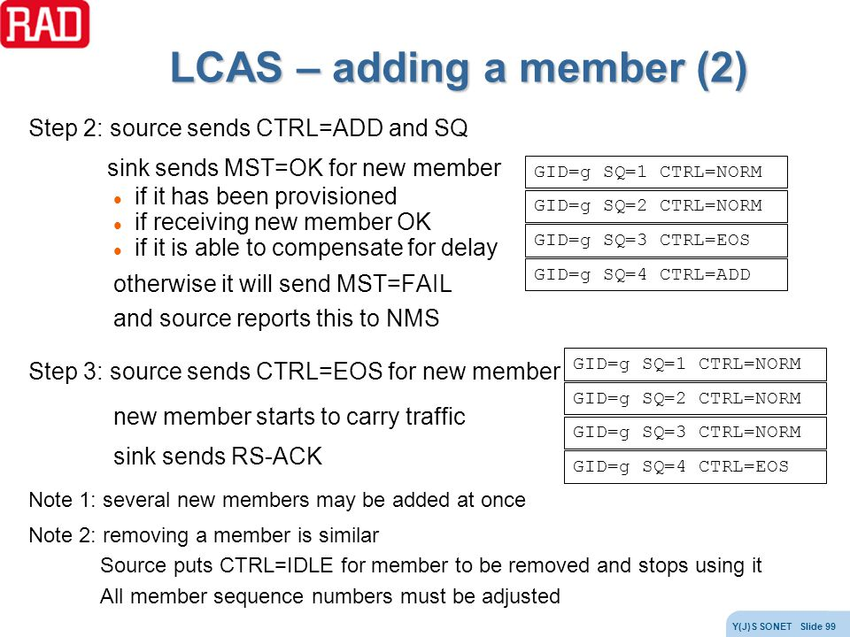 LCAS – adding a member (2)