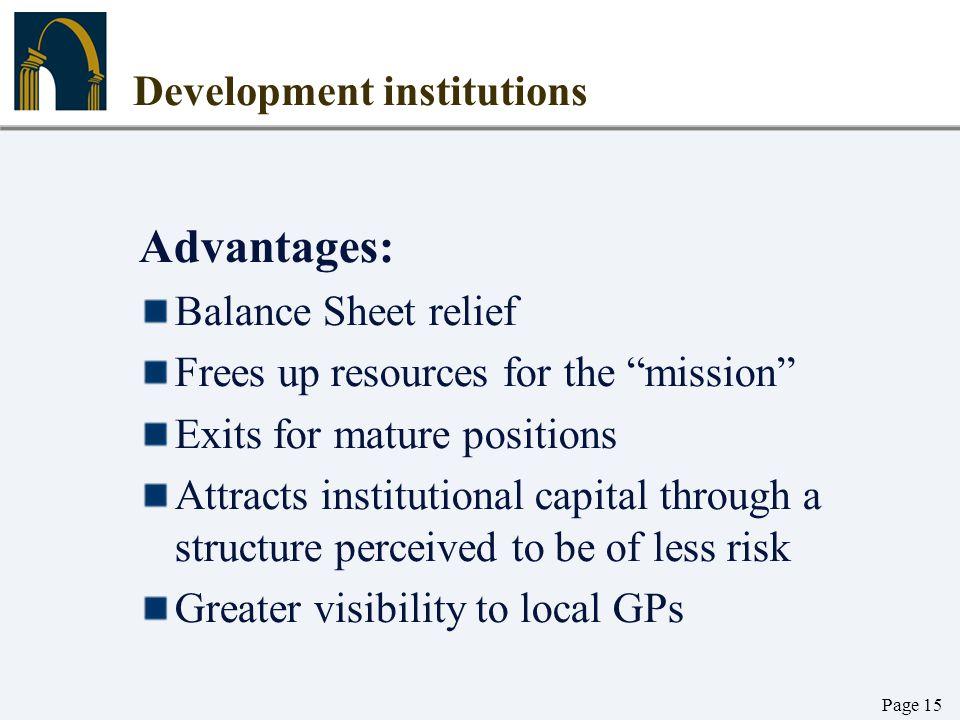 Development institutions