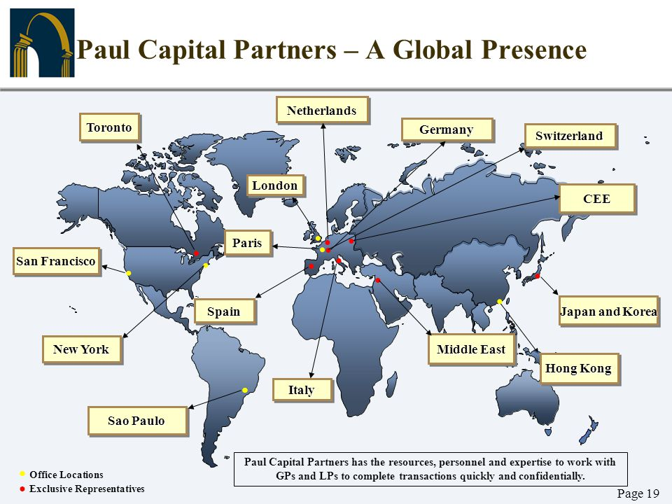 Paul Capital Partners – A Global Presence