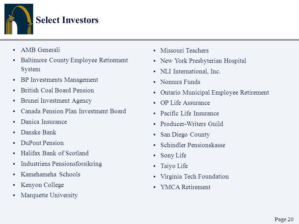 Select Investors AMB Generali Missouri Teachers