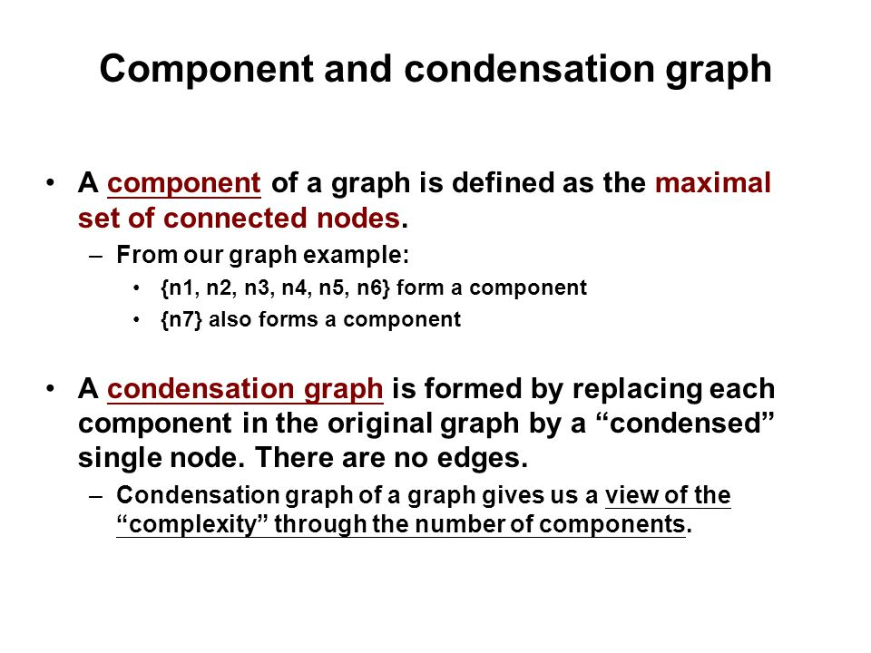 Component and condensation graph