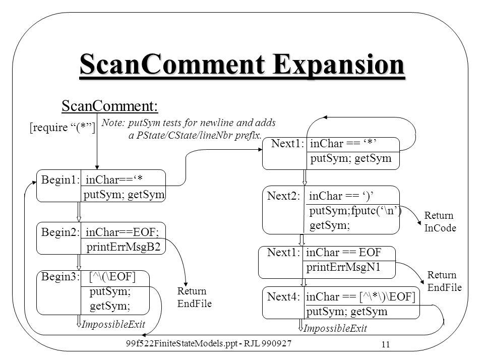 ScanComment Expansion
