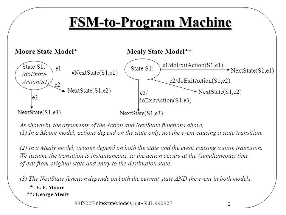 FSM-to-Program Machine