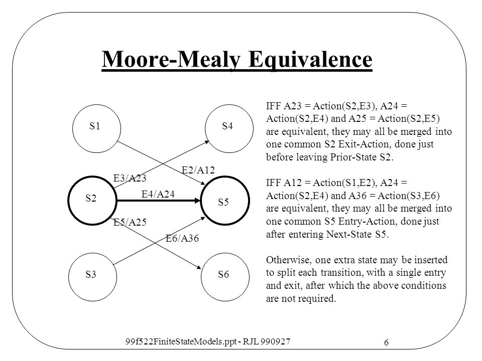 Moore-Mealy Equivalence