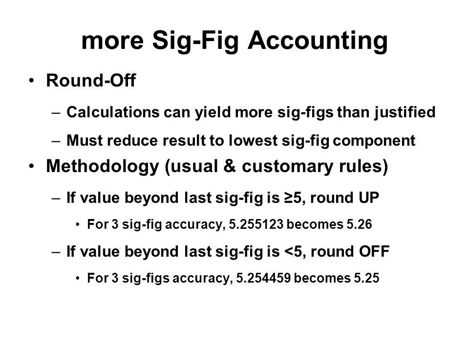 more Sig-Fig Accounting