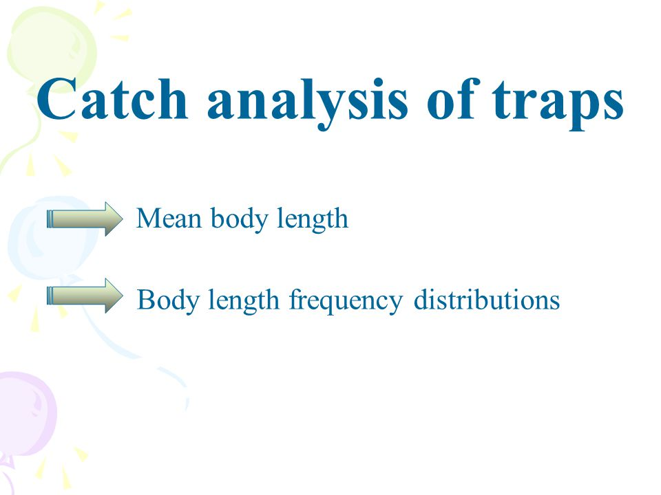 Catch analysis of traps