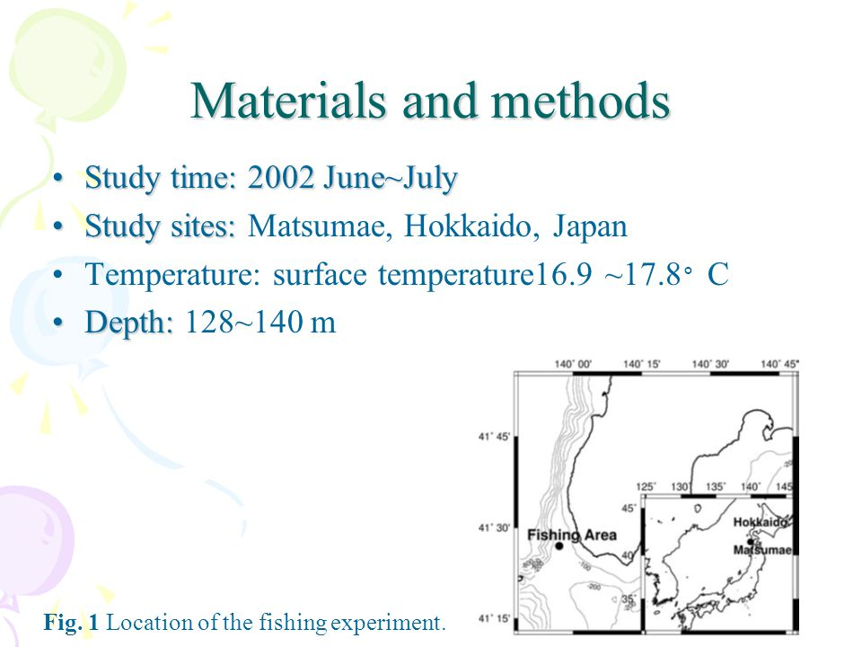 Materials and methods Study time: 2002 June~July
