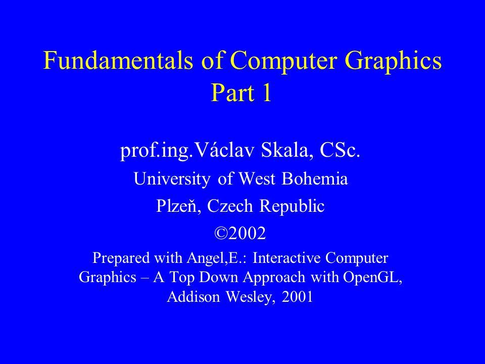 Fundamentals of Computer Graphics Part 1