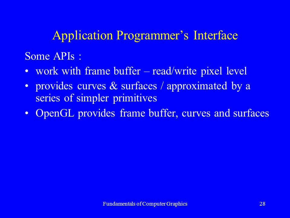 Application Programmer's Interface
