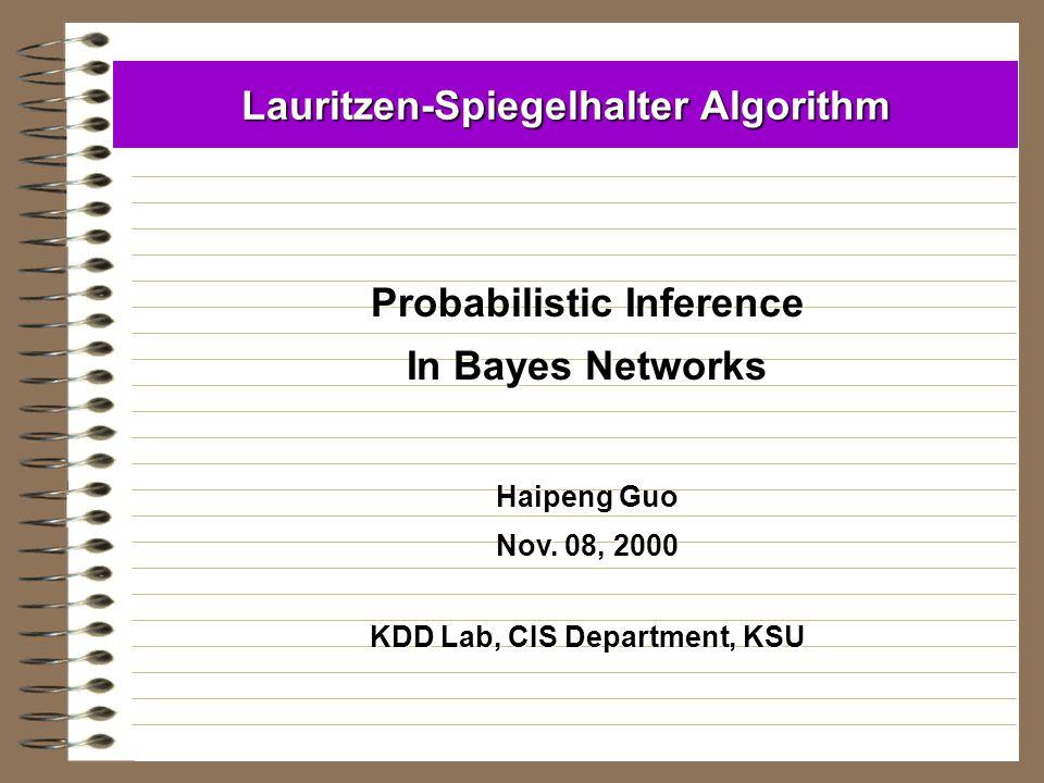 Lauritzen-Spiegelhalter Algorithm