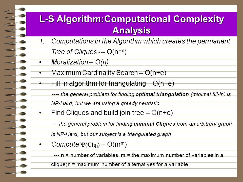 L-S Algorithm:Computational Complexity Analysis