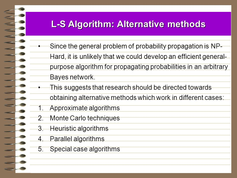 L-S Algorithm: Alternative methods