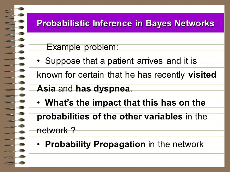 Probabilistic Inference in Bayes Networks