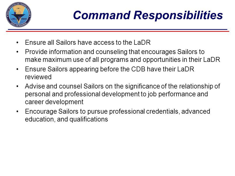 Command Responsibilities