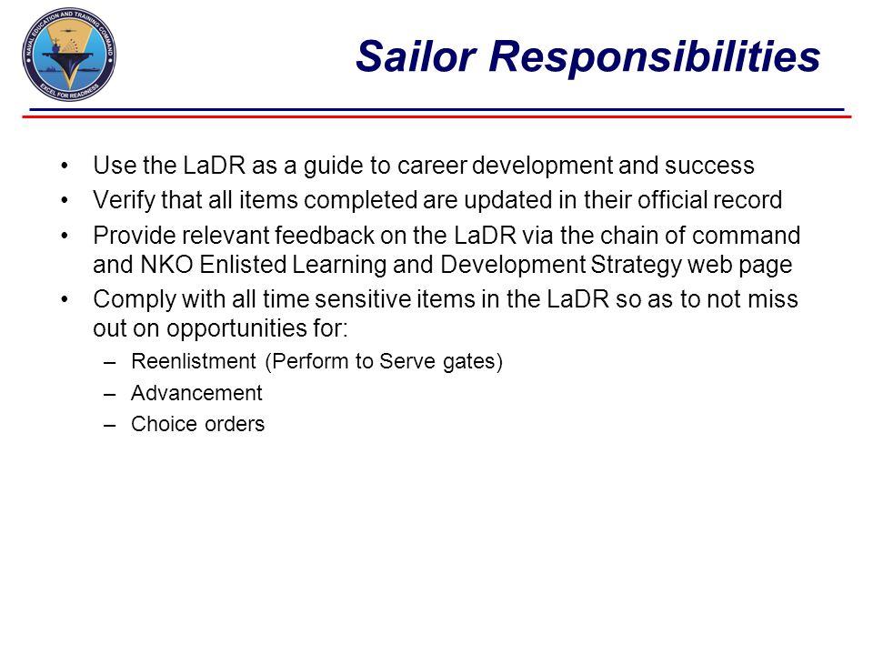 Sailor Responsibilities