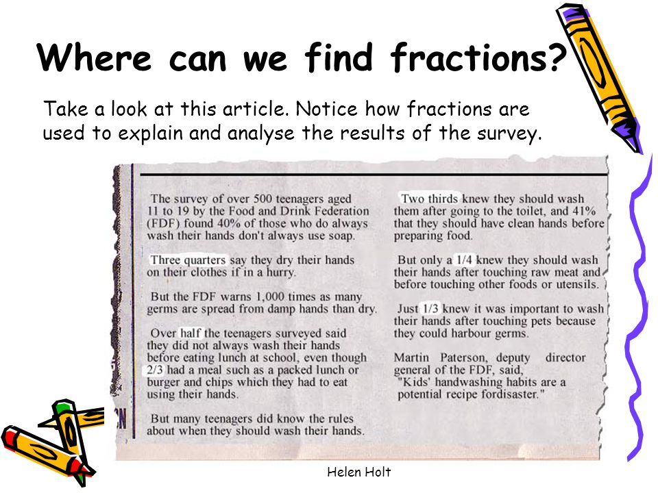 Where can we find fractions