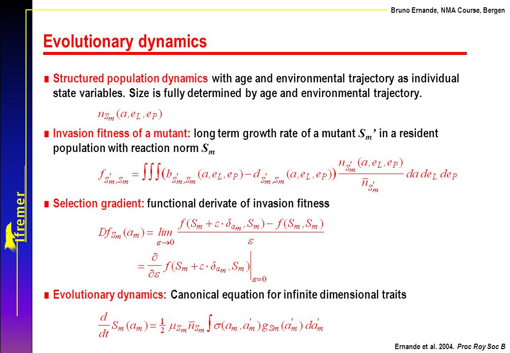 Evolutionary dynamics