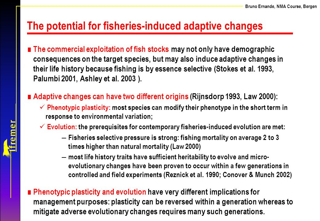 The potential for fisheries-induced adaptive changes