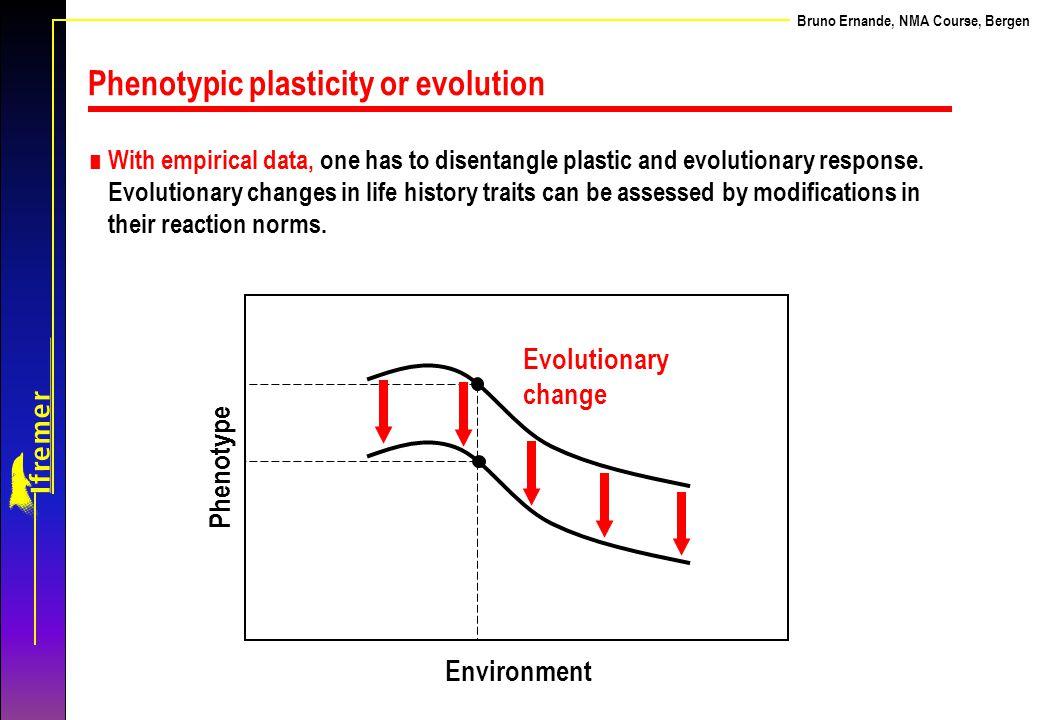 Phenotypic plasticity or evolution