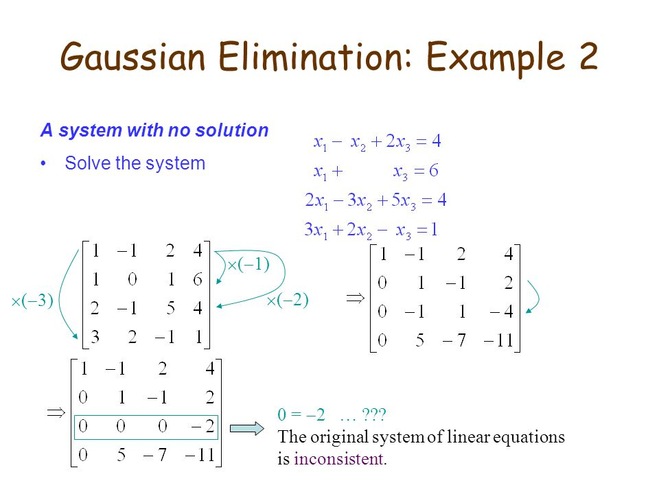 Gaussian Elimination: Example 2