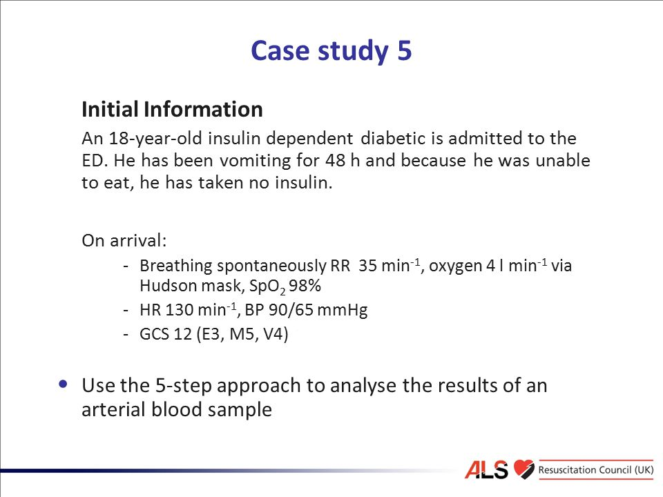 Case study 5 Initial Information On arrival: