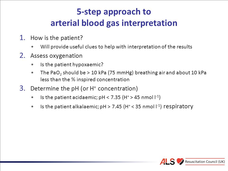 5-step approach to arterial blood gas interpretation
