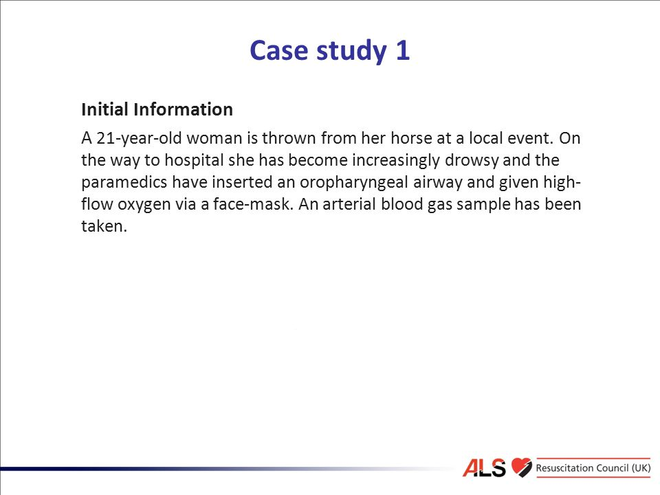 Case study 1 Initial Information