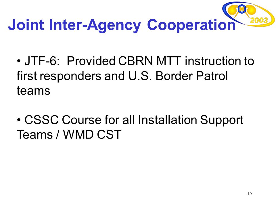 Joint Inter-Agency Cooperation